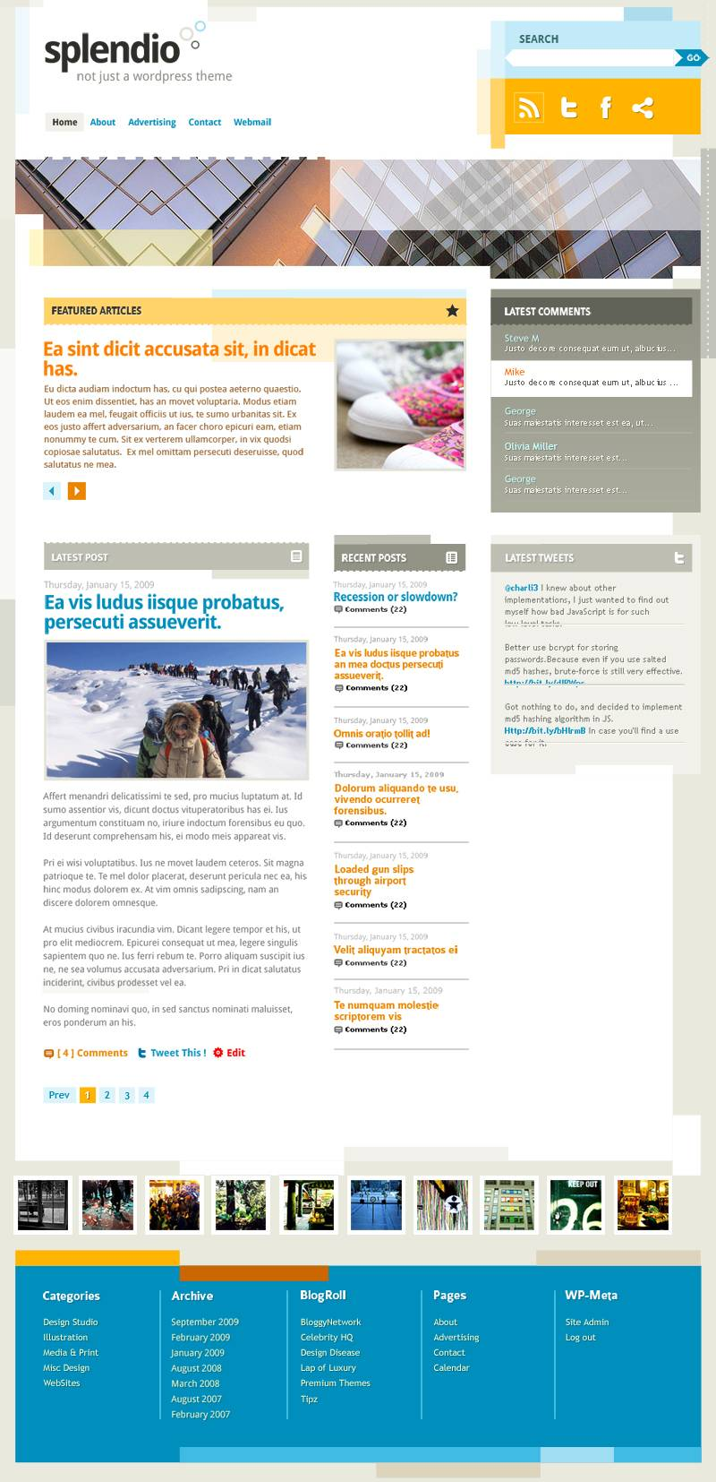 Шаблон для WordPress 3.1